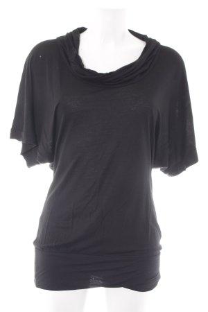 Hallhuber trend Oversized shirt zwart casual uitstraling