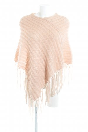 Hallhuber trend Poncho apricot Zopfmuster Casual-Look