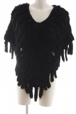 Hallhuber trend Poncho schwarz extravaganter Stil