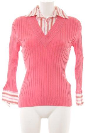 Hallhuber trend Twin-set trui gestreept patroon casual uitstraling