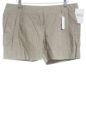 Hallhuber trend Skorts weiß-bronzefarben Streifenmuster Beach-Look