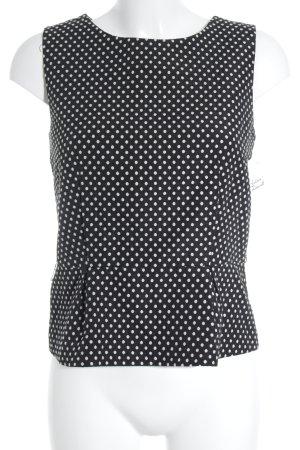 Hallhuber Tunika schwarz-weiß Punktemuster Casual-Look