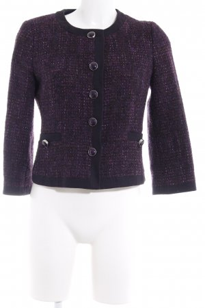 Hallhuber Tweed Blazer brown violet-purple flecked elegant