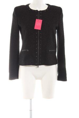Hallhuber Tweed blazer zwart zakelijke stijl