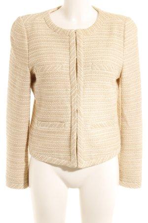 Hallhuber Tweed blazer goud-room gestreept patroon elegant