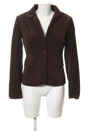 Hallhuber Tweed blazer zwart bruin zakelijke stijl