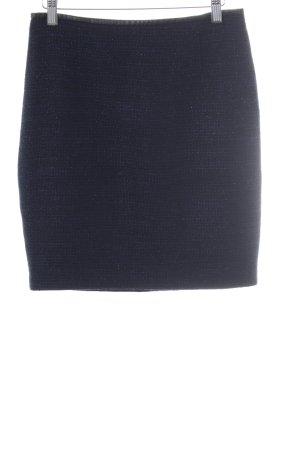Hallhuber Tweedrock schwarz-dunkelblau Webmuster Business-Look