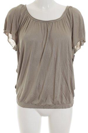Hallhuber Boothalsshirt grijs-bruin casual uitstraling