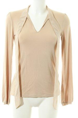 Hallhuber V-Ausschnitt-Shirt creme Casual-Look