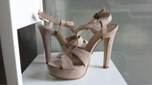 Hallhuber Plateauzool sandalen veelkleurig Leer