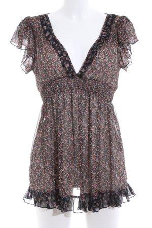 Hallhuber Vestido estilo flounce estampado floral look casual