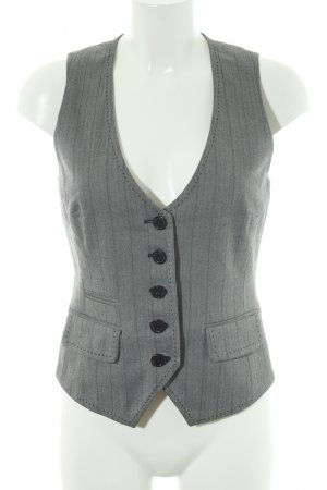 Hallhuber Reversible Vest black-white houndstooth pattern business style