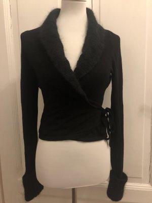Hallhuber trend Wraparound Shirt black