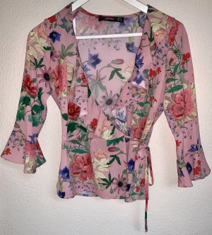 Hallhuber Wraparound Blouse multicolored polyester