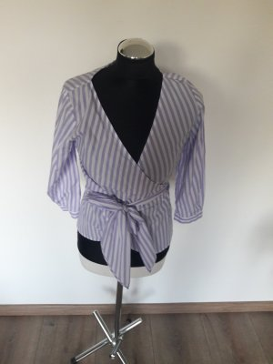 Hallhuber Wraparound Blouse white-purple