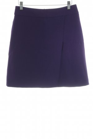 Hallhuber Wraparound Skirt dark violet wrap look