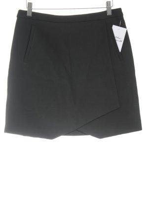 Hallhuber Jupe portefeuille noir style d'affaires