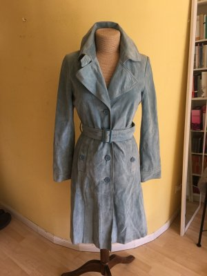 Hallhuber Leather Coat cornflower blue suede