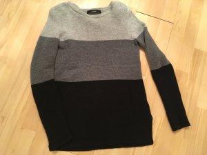 HALLHUBER Woll / Kaschmir Pullover grau schwarz in Gr. 34 / XS