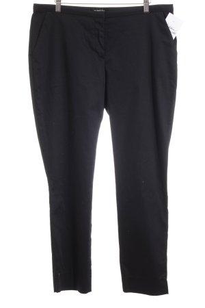 Hallhuber Pantalon en laine noir style d'affaires