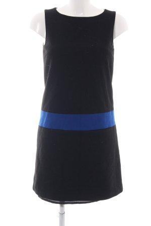 Hallhuber Wollkleid schwarz-blau Casual-Look