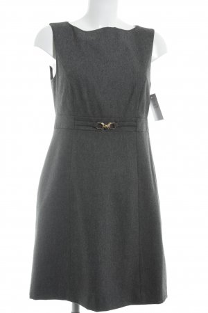 Hallhuber Vestido de lana gris antracita estilo «business»