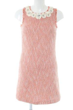 Hallhuber Wollkleid pink-weiß meliert Casual-Look