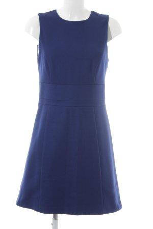 Hallhuber Wollen jurk blauw Webpatroon elegant