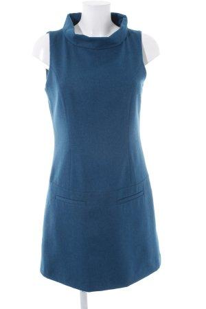 Hallhuber Robe en laine bleu pétrole style classique
