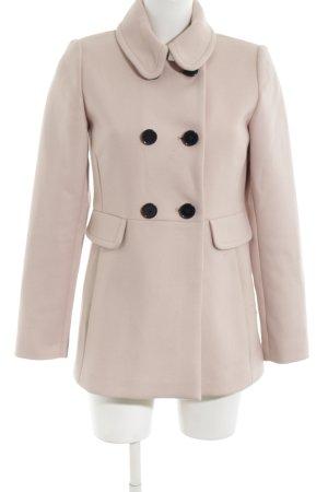 Hallhuber Cappotto in lana rosa-nero stile casual