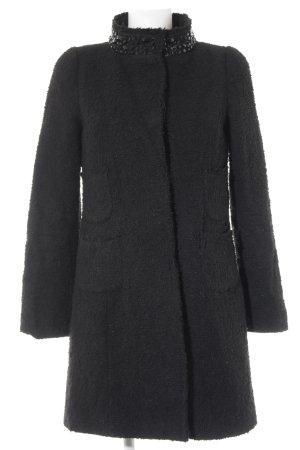 Hallhuber Wollmantel schwarz Elegant