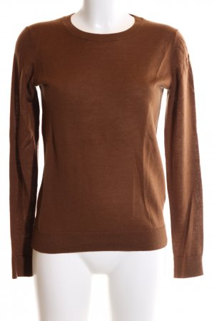 Hallhuber Wollpullover braun Business-Look