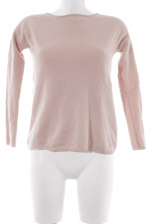 Hallhuber Wollpullover altrosa Casual-Look