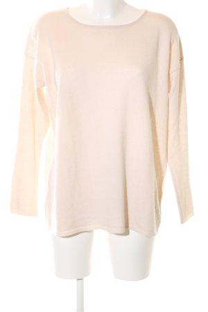Hallhuber Jersey de lana crema estilo sencillo
