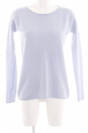 Hallhuber Wollpullover lila Casual-Look
