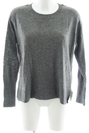 Hallhuber Wool Sweater dark grey casual look