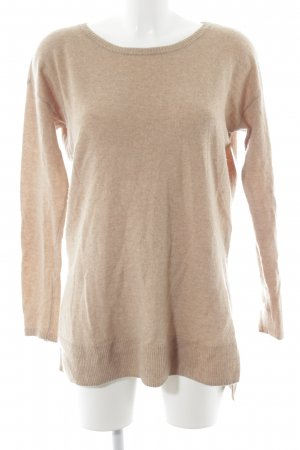 Hallhuber Wool Sweater light brown simple style