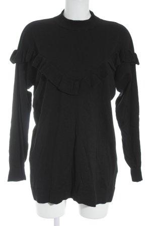 Hallhuber Wollpullover schwarz Casual-Look