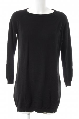 Hallhuber Wollen trui zwart casual uitstraling