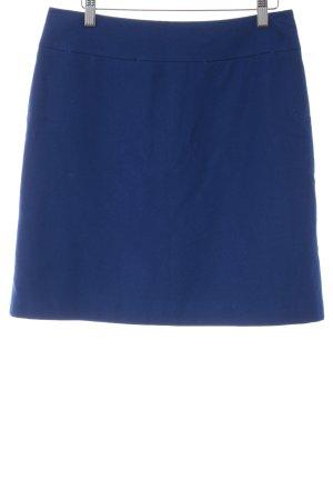 Hallhuber Wollen rok blauw simpele stijl