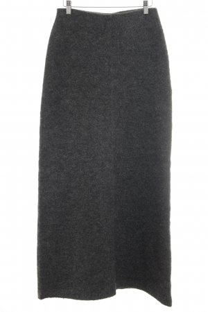 Hallhuber Wool Skirt dark grey casual look