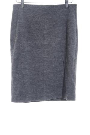Hallhuber Gonna di lana grigio scuro elegante