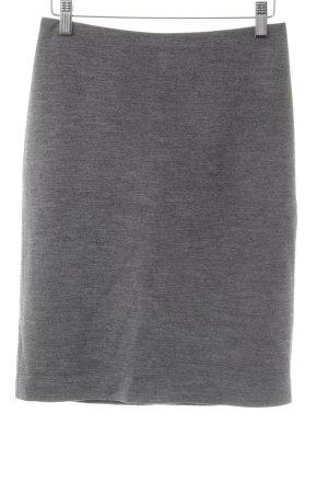Hallhuber Gonna di lana grigio puntinato stile professionale