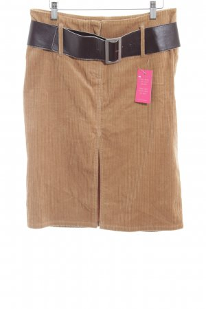 Hallhuber Wollen rok zandig bruin extravagante stijl