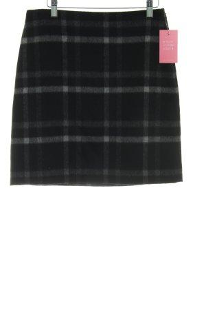 Hallhuber Wool Skirt black-light grey check pattern casual look