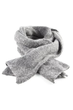 Hallhuber Bufanda de lana gris-color plata look casual