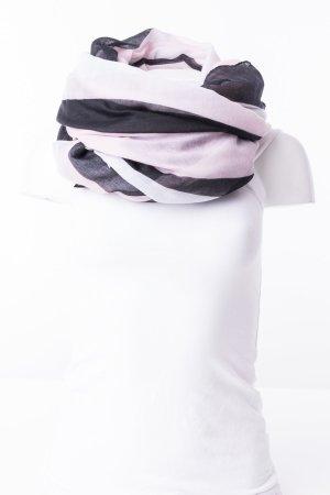 HALLHUBER - XXL Tuch gestreift Rosa-Schwarz-Weiß