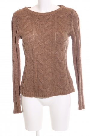 Hallhuber Zopfpullover nude Zopfmuster Casual-Look