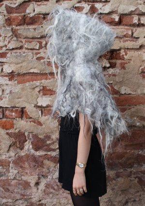 Halloween Langhaar Filz Cape aus Biowolle