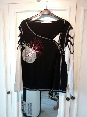halloween shirt, Gothic, Spinne, schwarz weiß